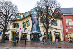 Crooked little house Krzywy Domek in Sopot, Poland Stock Images