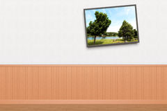 Crooked Painting on wall Royalty Free Stock Image