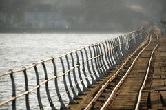 Crooked rail lines Royalty Free Stock Photos