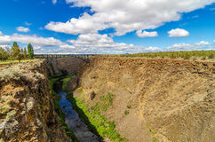 Crooked River Canyon and Bridge Royalty Free Stock Photography
