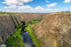 Crooked River Canyon Royalty Free Stock Photography