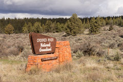 Crooked River National Grassland Entry Sign US Department of Agr Royalty Free Stock Photography