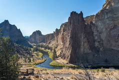 Crooked River in Oregon Stock Photography