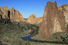 Crooked River through Smith Rock Stock Photo