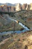 Crooked River Through Smith Rock Vert Royalty Free Stock Photos