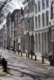 Crooked row houses Royalty Free Stock Photos