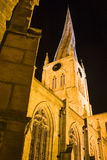 Crooked spire. The famous crooked spire in Chesterfield Stock Images