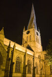 Crooked spire. The famous crooked spire in Chesterfield stock photography