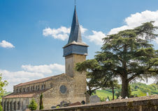 Crooked spire of the Barran's church Stock Image