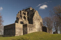 Crookston Castle. View of the ruin of Crookston Castle, Glasgow, Scotland Royalty Free Stock Photography
