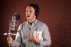 Crooner Royalty Free Stock Photography