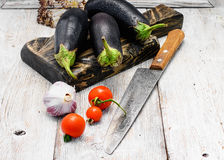 Crop of aubergine Royalty Free Stock Photography