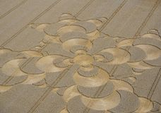 Crop Circle in cornfield near Mammendorf, Bavaria, Germany. Crop circle in a cornfield at Mammendorf, Upper Bavaria, Bavaria, Germany, Europe stock photography