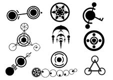 Crop Circle Designs. A selection of crop circle designs in format vector illustration