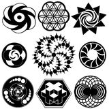 Crop Circle Designs. Symbols and logos. Sacred geometry vector Stock Image