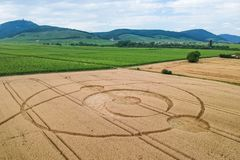 Free Crop Circles Field Alsace France Stock Images - 153891334