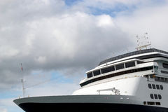Crop of cruise ship with clouds Royalty Free Stock Photo