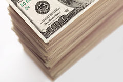 Crop of dollar banknotes Royalty Free Stock Images