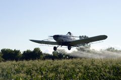 Crop Duster Action Stock Image