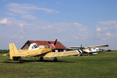 Crop duster airplanes Stock Images