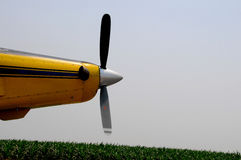Crop Duster Engine. On Runway Royalty Free Stock Image
