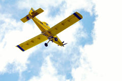 Crop Duster. Flying over head royalty free stock images