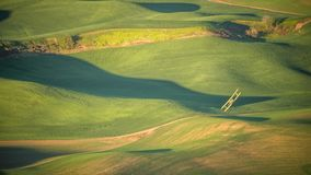 Crop Duster making a turn in The Palouse Stock Image