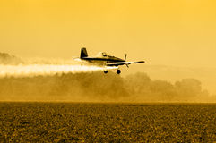 Crop Duster Silhouette Stock Photos
