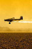 Crop Duster Silhouette Royalty Free Stock Image