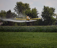 Crop Duster Spraying Bean Field Stock Photos