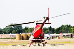 Crop duster spraying insecticide Stock Image