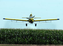 Crop duster stock image
