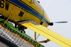 Crop Duster Taking Off Royalty Free Stock Photography
