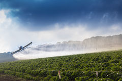 Crop duster. In Yezreel Valley Stock Photography
