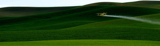 Crop Dusting Stock Photo