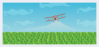 Crop Dusting Stock Photography