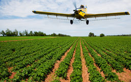 Crop dusting Royalty Free Stock Images