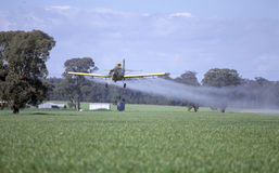 Crop dusting Royalty Free Stock Photos