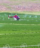 Crop dusting helicopter. Royalty Free Stock Image
