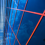Crop of glass wall Royalty Free Stock Photo