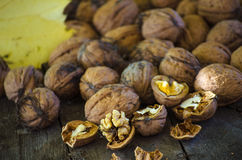 Crop harvested walnuts Stock Image