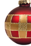 Crop of holiday ball Stock Images