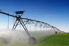 Crop Irrigation Stock Photo
