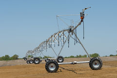 Crop Irrigation. Irrigation equipment awaits the arrival of spring royalty free stock photo