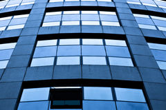 Crop of modern blue office Royalty Free Stock Photos