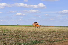 Crop protection. The modern agriculture, involve the use of intensive control process. For do the control more efficiente, the growers use big sprayers. To Stock Photography