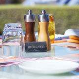 Crop of restaurant table Royalty Free Stock Photography