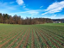 Crop rotation of an agricultural field.