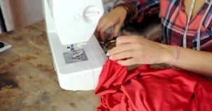 Crop shot of tailor in work stock video