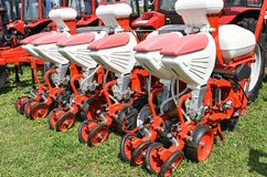 Crop sprayer agricultural machineries. In summer Royalty Free Stock Photography